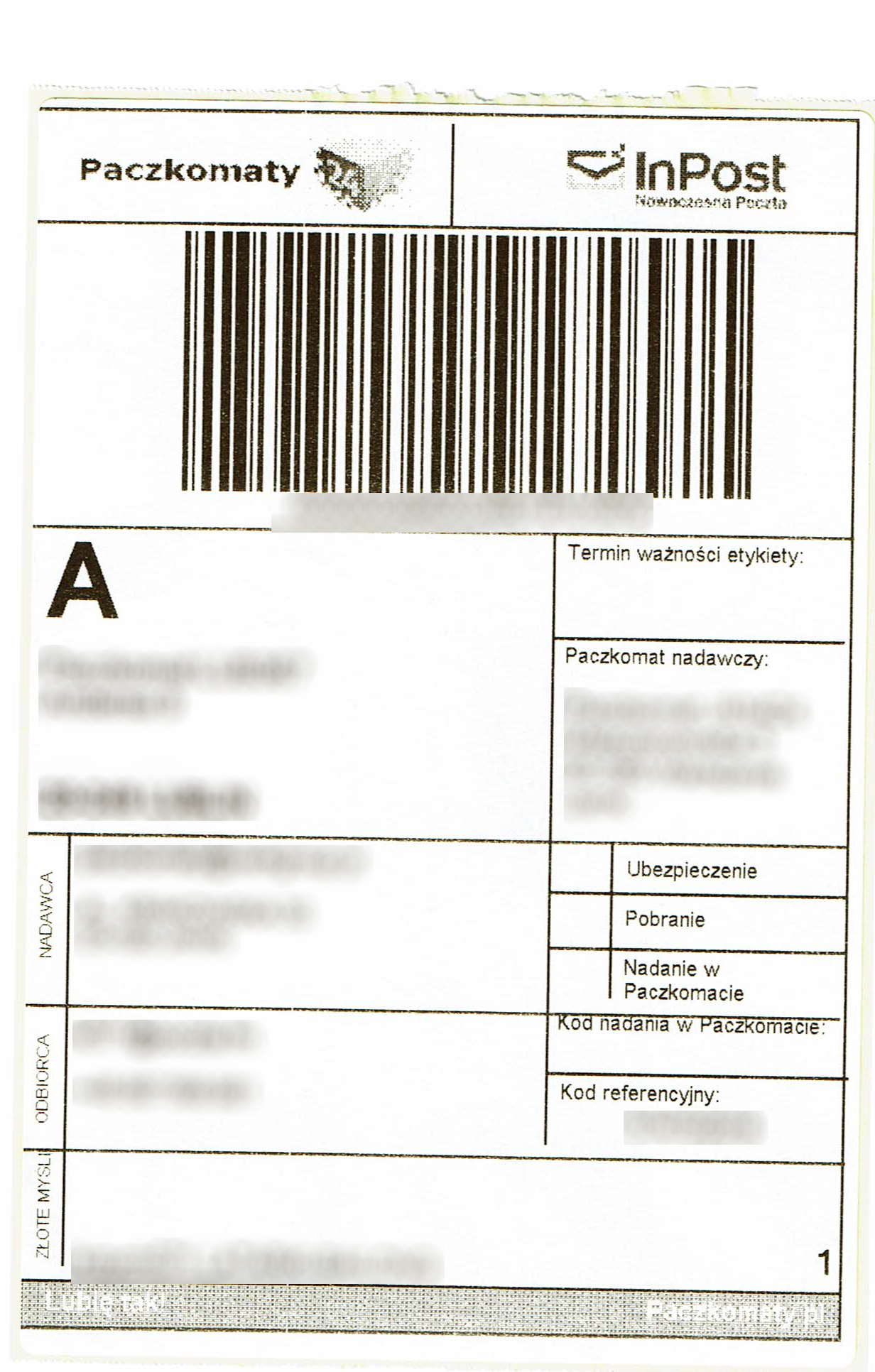cbde44ee722d8d Etykiety Paczkomaty 24 - Pomocna dłoń - Forum użytkowników InsERT