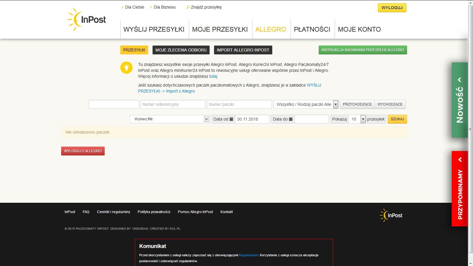 0b3e49924affce Allegro paczkomat - Pomocna dłoń - Forum użytkowników InsERT