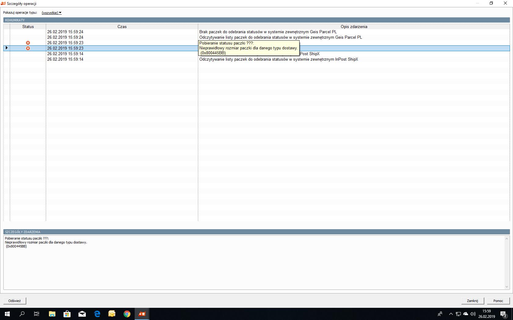 8e8276bf4cecb3 błąd w paczce. - Pomocna dłoń - Forum użytkowników InsERT